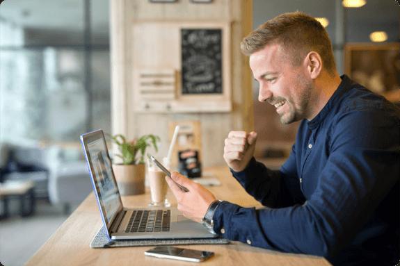 Freelancer feliz